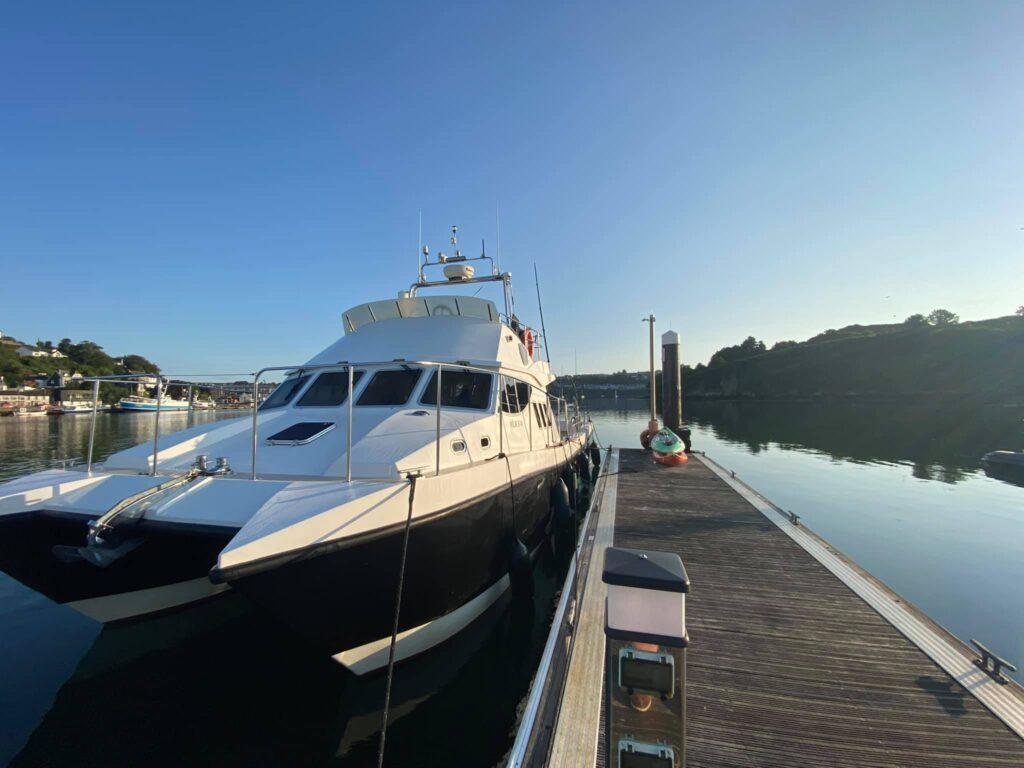 Die Ocean Ranger ist eine Safehaven Marine Wildcat. Twin Volvo Pentas. Ein tolles Schiff